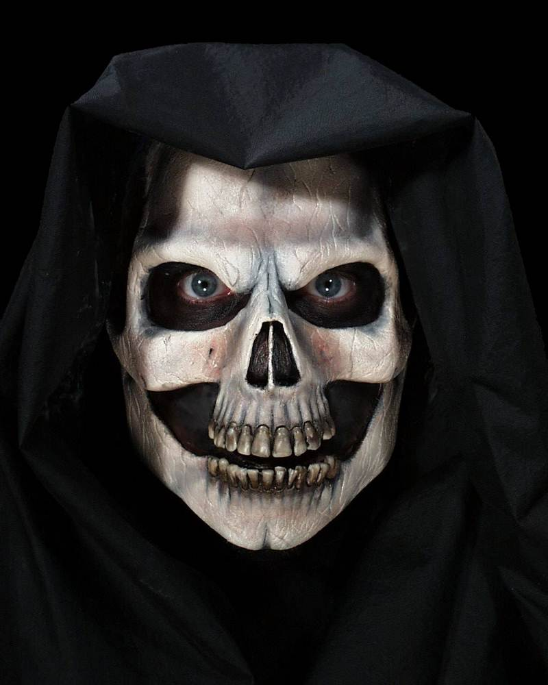 How Skull Mask Face Painting | Apps Directories Half Skeleton Face Painting