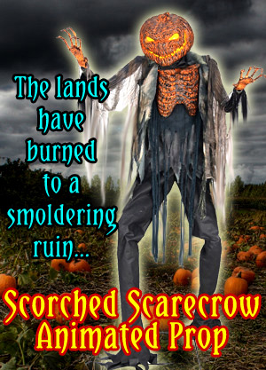 Scorched Scarecrow Animated Halloween Prop