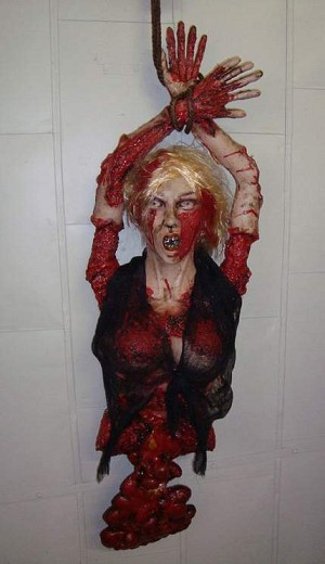 Hanging Half Body Prop - Gory Female