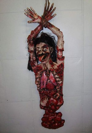 Hanging Half Body Prop - Gory Male