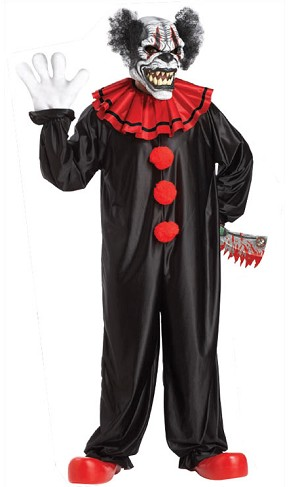 Last Laugh Clown Costume with Ani-Motion Mask