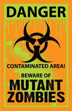 Biohazard Mutant Zombie Yard Sign