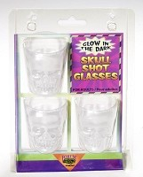 Glow in the Dark Skull Shot Glasses