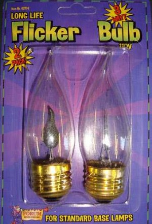 Flicker Flame Bulbs - Large Base