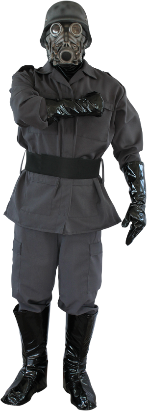 Chemical Warfare Costume with Mask