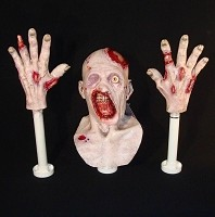 Foam Filled Head and Hands - Zombie Junior
