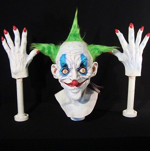 Foam Filled Head and Hands - Old Clown