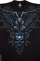 Gargoyle on Skull Dbl Sided T-Shirt