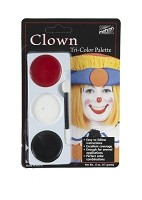 Mehron Tri-Color Palette - Clown