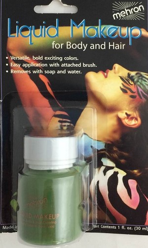 Mehron Liquid Makeup Green 1 oz