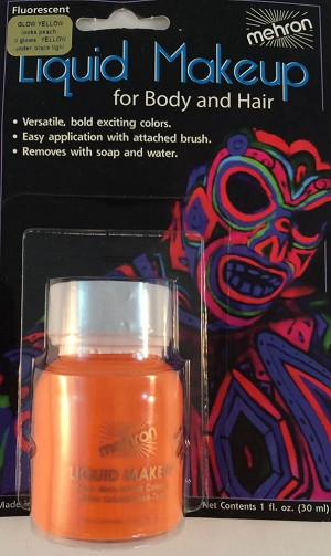 Mehron Liquid Makeup Glow Yellow 1 oz