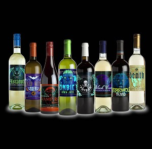 Spooky Wine Bottle Labels - Glow