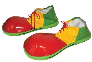Red, Yellow and Green Clown Shoes