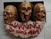 3 Face Zombie Wall Plaque
