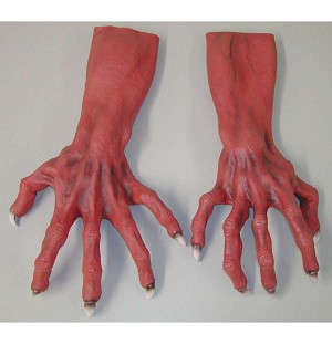 Red Hands with Gnarled Fingers