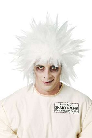 Shock Treatment Wig - White