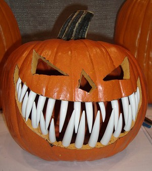 Pumpkin Teeth Large White