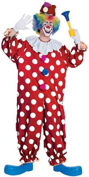 Red & White Dotted Clown