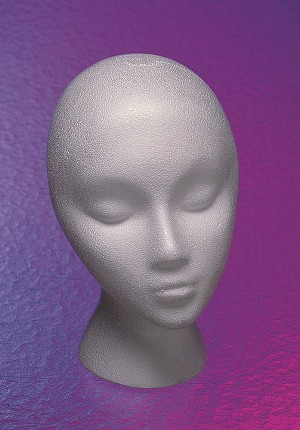 Female Styrofoam Head