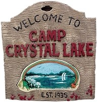 Jason 3D Camp Crystal Lake Sign