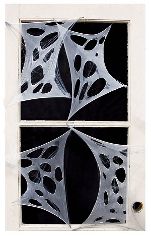 Stretchy Fabric Cobwebs- Large 4 Pieces