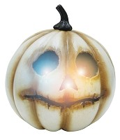 Light Up White Pumpkin - Medium