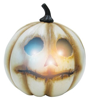 Light Up White Pumpkin - Small