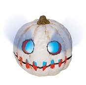 Creepy Light Up Pumpkin - White