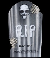 "21"" Skeleton Hands Tombstone"