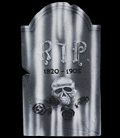 "21"" Skull & Roses Tombstone"