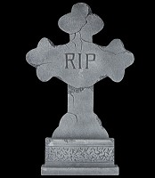 "24"" Cracked Cross Tombstone"