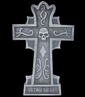 "24"" Gothic Cross R.I.P. Tombstone"