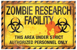 Metal Zombie Research Sign