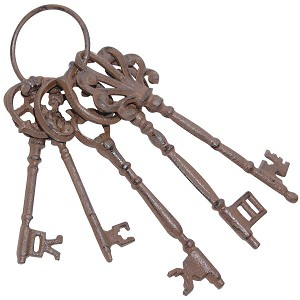 Cast Iron Skeleton Keys