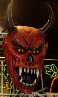 5 Ft Giant Latex Devil Head