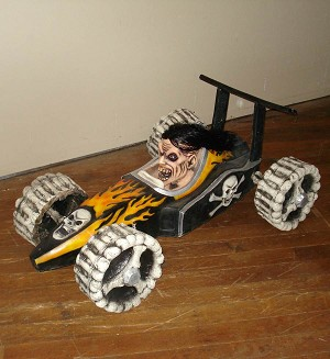 Skeleton Race Car Halloween Prop