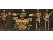 4 PC Life Size Skeleton Band