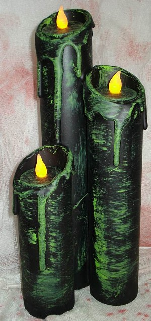 Haunted Candle Prop - Green