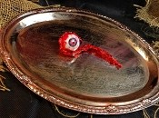 Silver Splatter Eyeball Tray