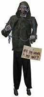 Life Size Zombie Hitchhiker Prop