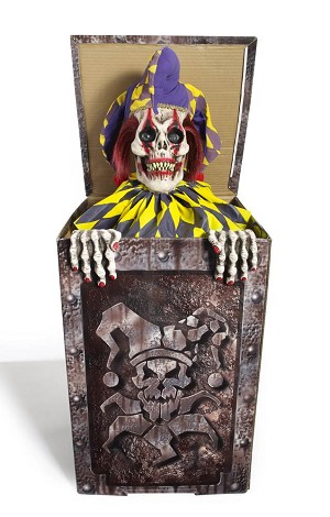 Animated Scary Jack In The Box Prop