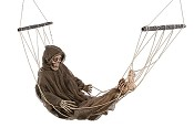 Lazy Bones Skeleton Reaper in Hammock
