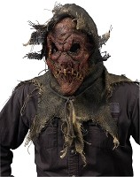 Gunny Sack Scarecrow Mask - Red