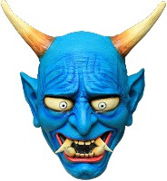 Oni Blue Demon Mask