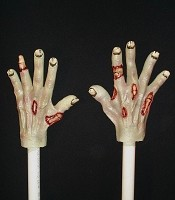 Foam Filled Hands with PVC Pipe