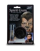 Mehron Spirit Gum with Crepe Hair Brown