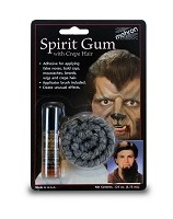 Mehron Spirit Gum with Crepe Hair Light Grey