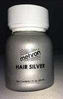 Mehron Hair Silver 1 oz