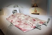 Death Bed Skeleton Prop