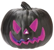 Light Up Purple and Black Pumpkin